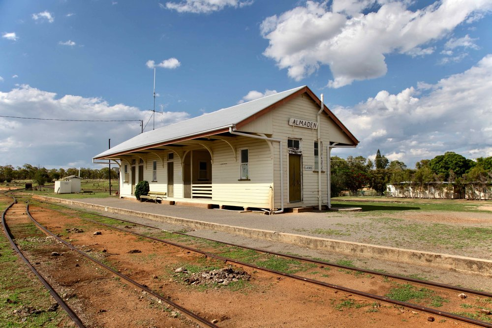 Almaden, Queensland... population: 71. The Savannahlander passes through this station each week.