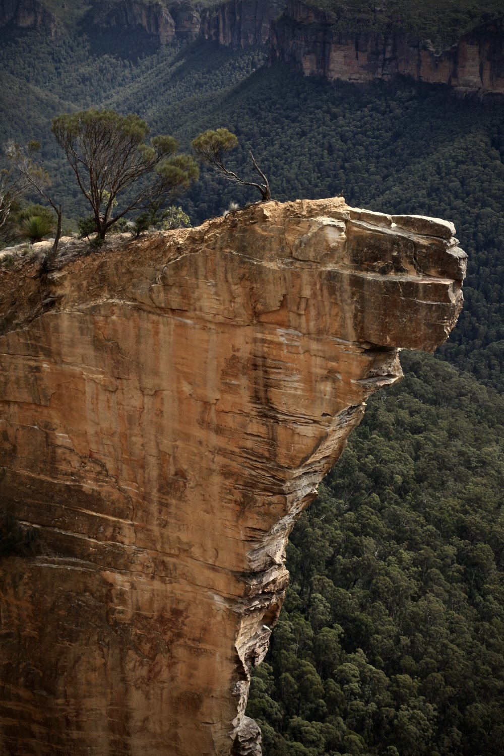 Hanging Rock viewed from Baltzer Lookout at Blackheath.