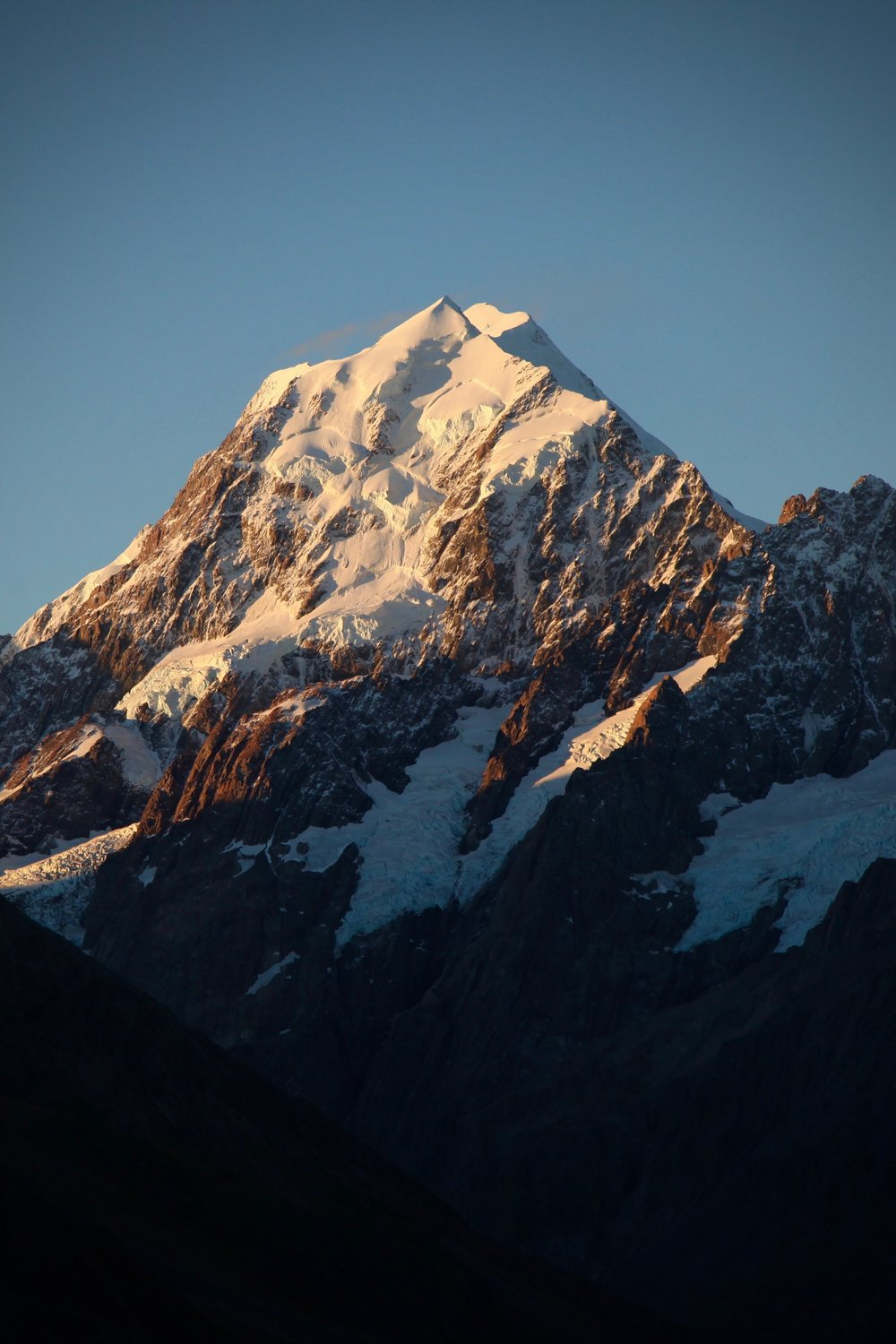 Aoraki Mt Cook National Park is located in the Southern Alps — at over 3700 metres, Aoraki Mount Cook is New Zealand's highest mountain.
