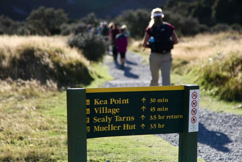 Women Want Adventure goes international: hiking in New Zealand's Aoraki Mount Cook National Park.