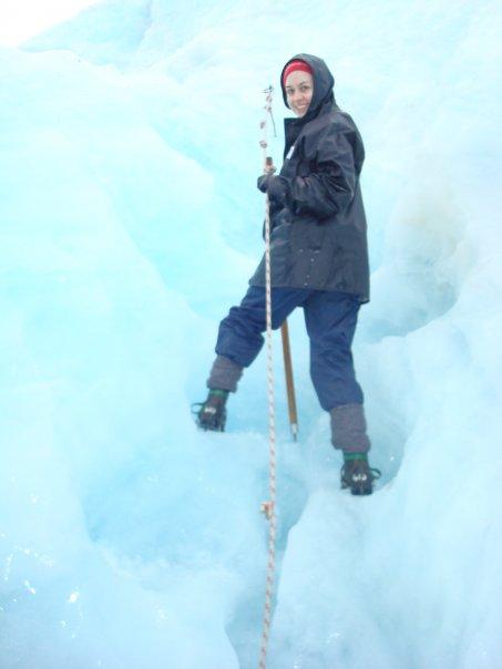 Visiting Fox Glacier, a decade or so ago.