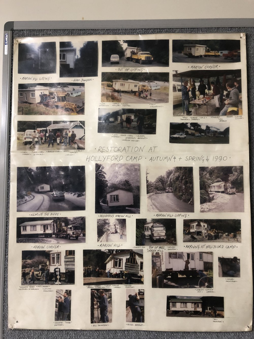 The photos in the communal area at Gunn's Camp showcase the history of the place.