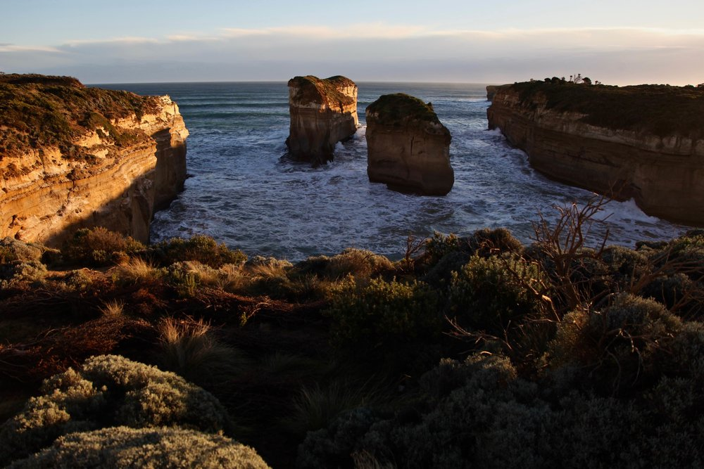 Golden hour at Loch Ard Gorge on the Great Ocean Road in Victoria.