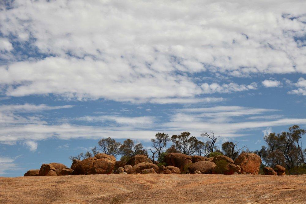 Boulders on top of Hyden Rock in Western Australia.