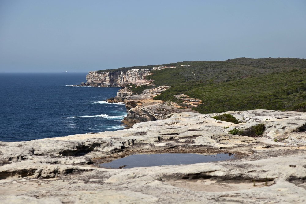 The Balconies near Wedding Cake Rock on the Coast Track in Royal National Park.