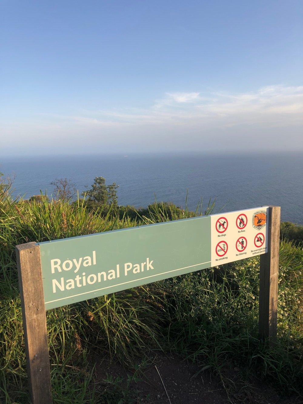 Royal National Park at Otford: depending on how you hike the Coast Track, this is either the beginning or the end. For me, it was the end. I made it!