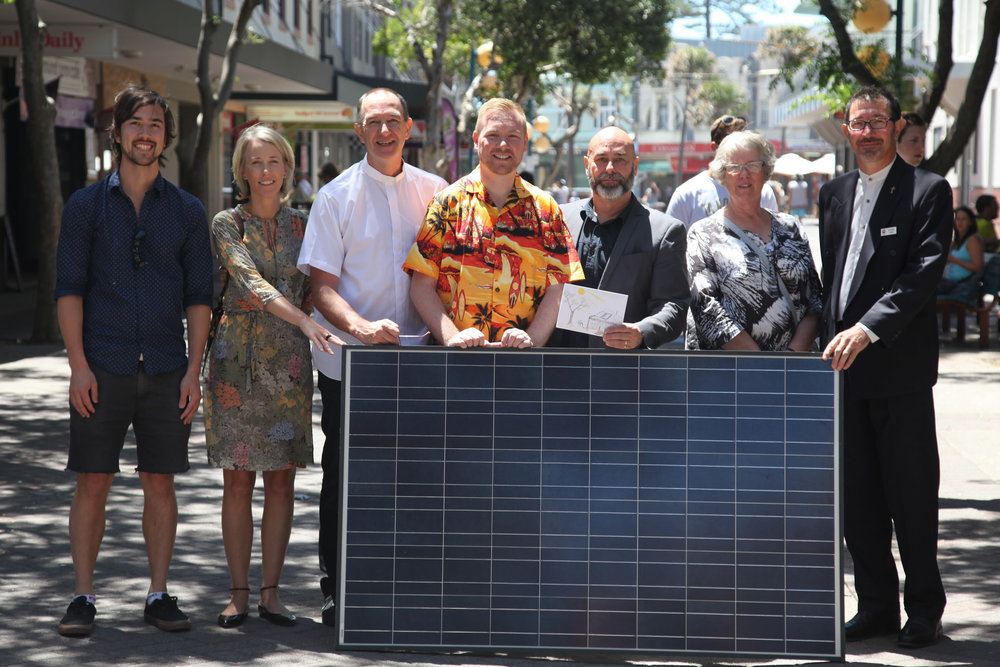"""The gift of solar panels for Kirribilli House. This solar panel symbolic of the twelve crowdfunded as part of the campaign. """"The solar panels are a gift for the nation, from the nation, to  symbolise public support for a clean energy future,"""" said Rev. Dr  Michael Frost, vice principal of Morling College and Founder of Small Boat Big Sea.   """"We know that 89% of Australians support a strong  Renewable Energy Target. By giving solar panels to Kirribilli House, Christians are adding their voice to a chorus of Aussies who want to see  a vibrant renewables industry. Our message to the Prime Minister is: don't knock renewables until you've tried them,"""" said Rev. Dr Frost. The  Solar Council, the peak body for the solar industry in Australia, have contributed to the gift for Kirribilli House, offering to install the crowdfunded solar panels at no cost."""