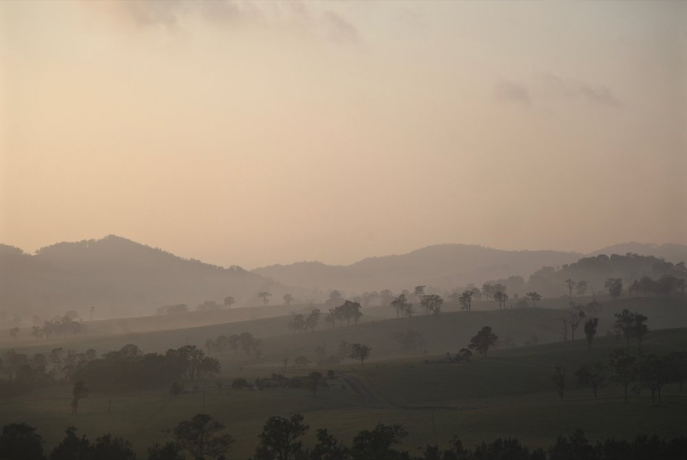 Early morning light over the  Gloucester valley  in NSW.