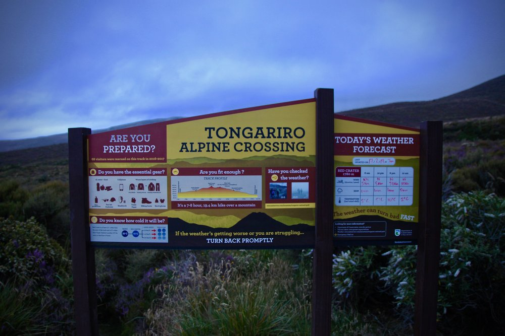 """The sign at the trail head says, """"it's a 7-8 hour, 19.4km walk over a mountain"""". And that mountain? It's a volcano."""