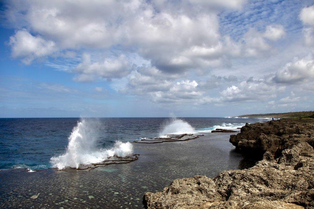 Mapu'a 'a Vaea — blowhole coastline in Tonga.