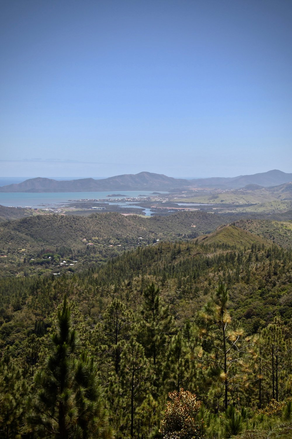 A view over Nouméa in New Caledonia.