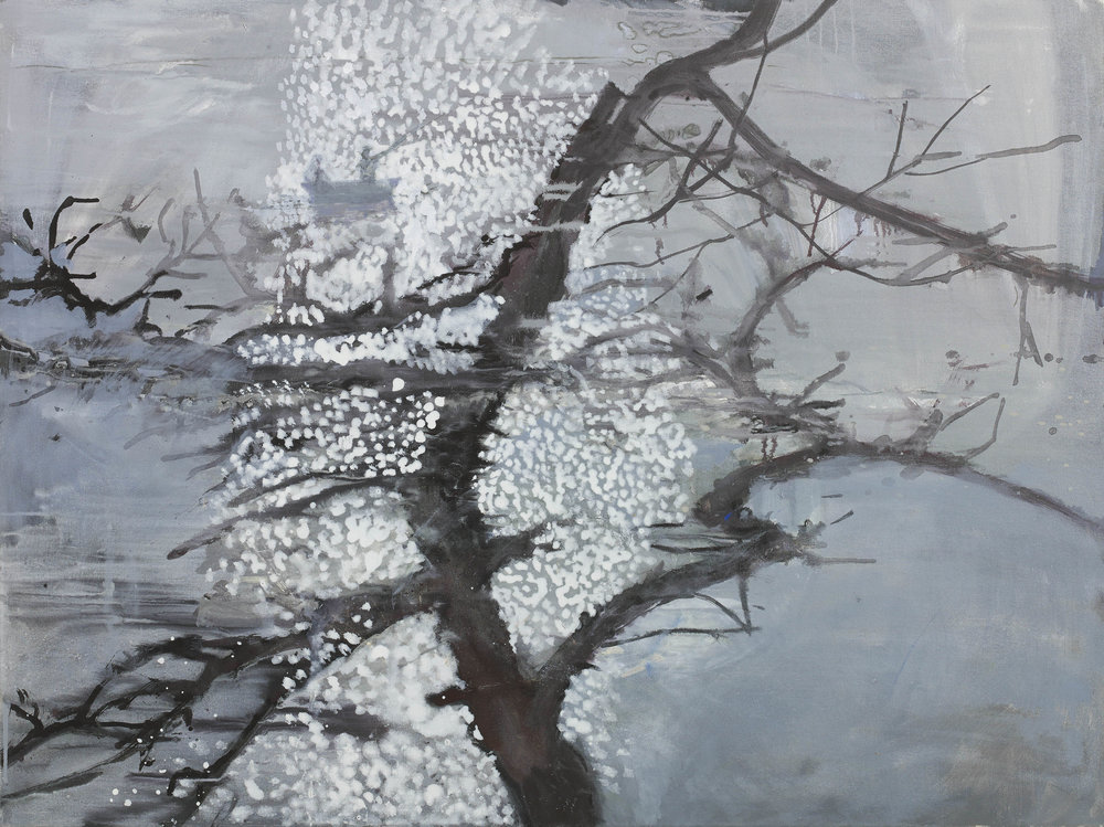 Tarkovsky's Tree oil on linen 35¾ x 47¾ ins
