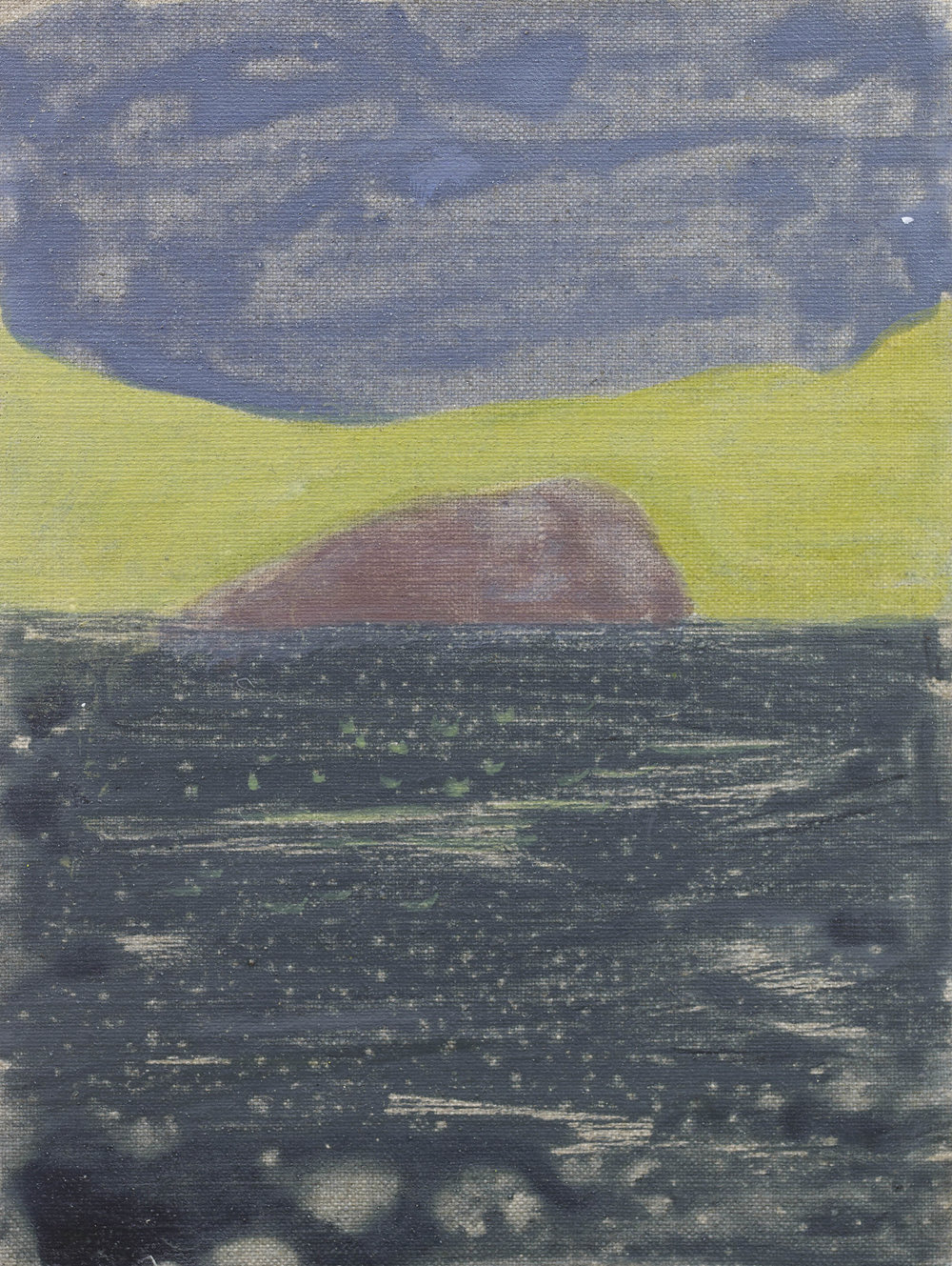 'Horse Island I' Oil on Linen 9½ x 7¼  ins 24 x 18 cms