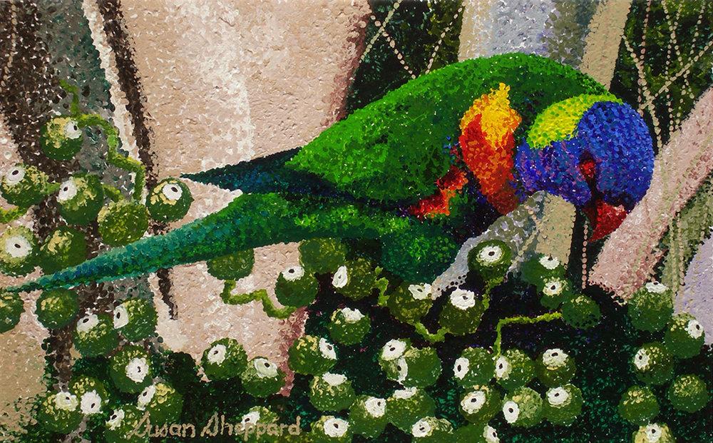 Pointillism Parrot