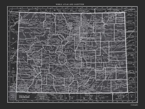 COPPERSTATE COLLECTION - COLORADO BLACK MAP