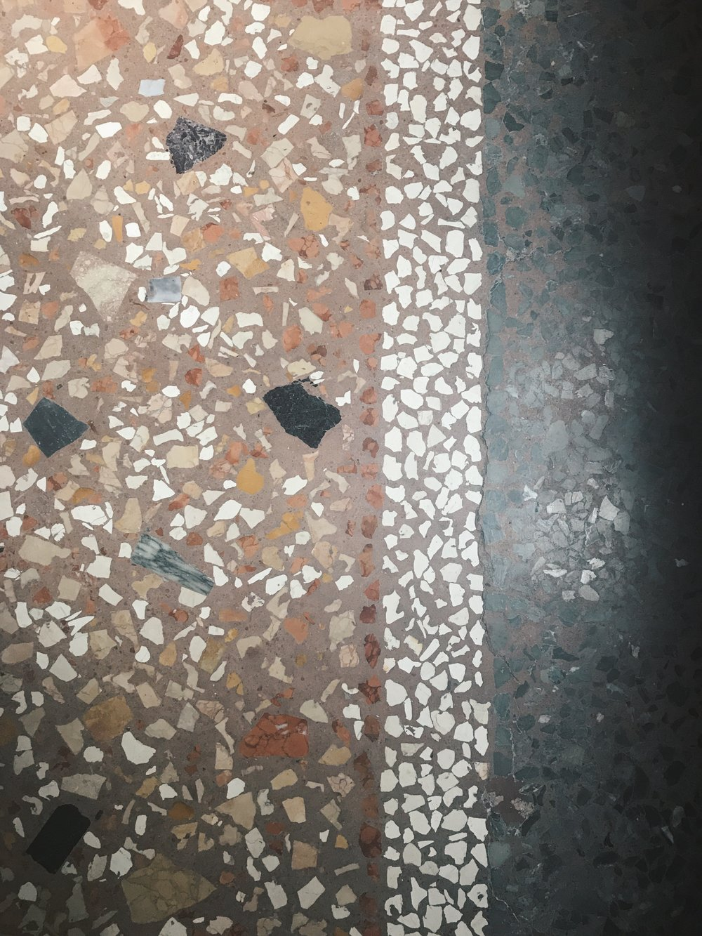 Terrazzo Love on my Air BnB bedroom floor