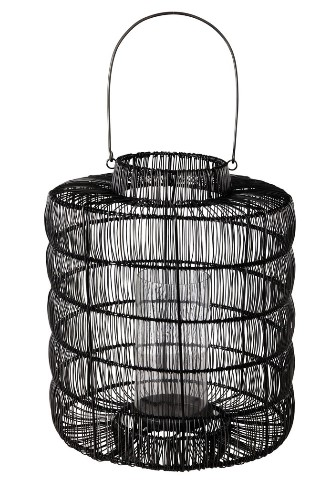 Maputo Black Metal Outdoor Lantern