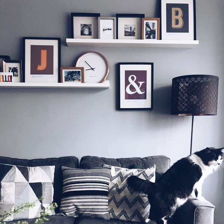 Cheap & Easy Gallery Walls