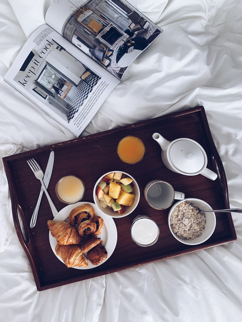 Breakfast in bed, Novotel Edinburgh