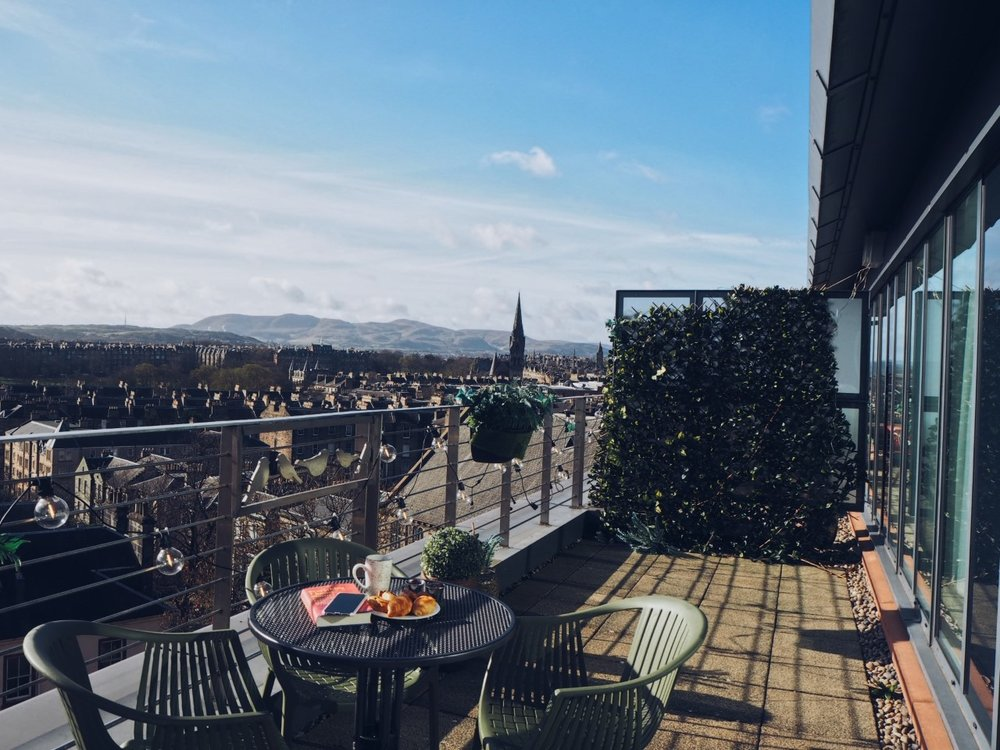 Novotel Edinburgh Suite Balcony - the views are gorgeous!