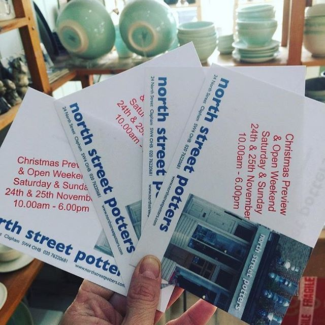 Our open weekend and Christmas Preview is fast approaching. 24th & 25th November @northstreetpotters  #claphamcommon #pottery