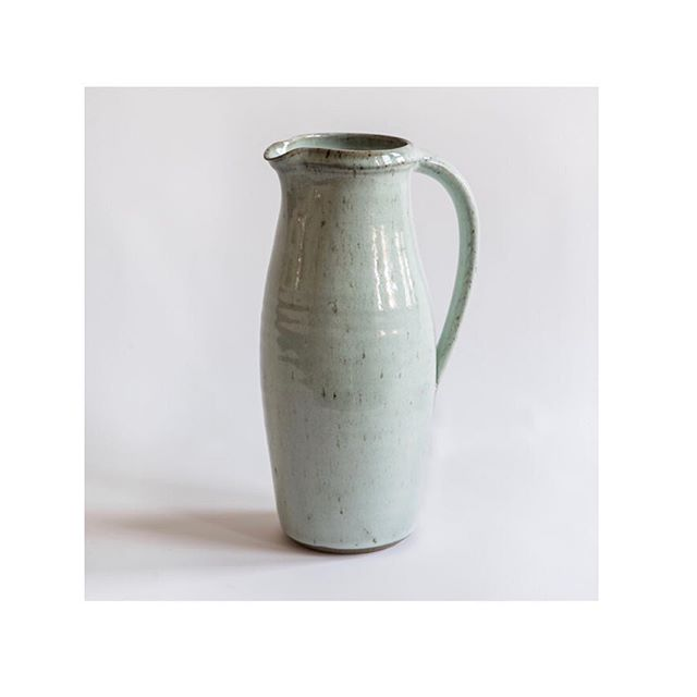 Large #jug made in two sections perfect for water or to display flowers... available @northstreetpotters  #ceramics #pottery #claphamcommon #handmade #craft #design #productionpottery #thrownonthewheel #maker #britishmade  #adriangonzalezpottery #stoneware #instapottery #interiordesign #highfired #shoplocal #shopsmall #shopindie #theindependentshopkeepers