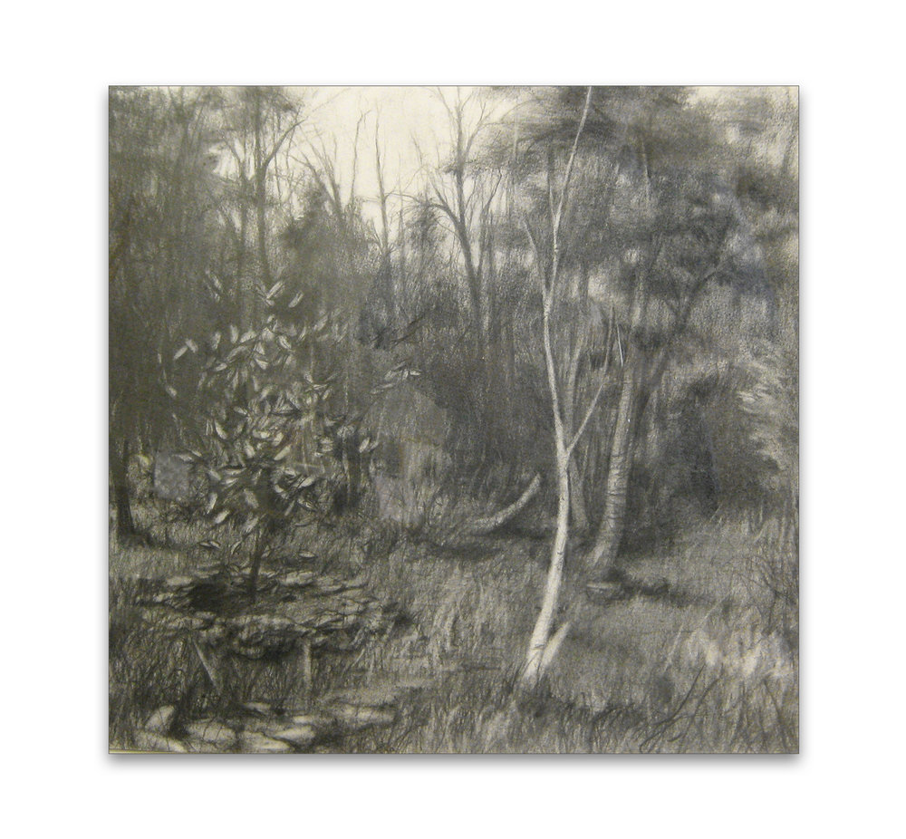 Studio View  ,  2011  graphite  13 x 13 in.