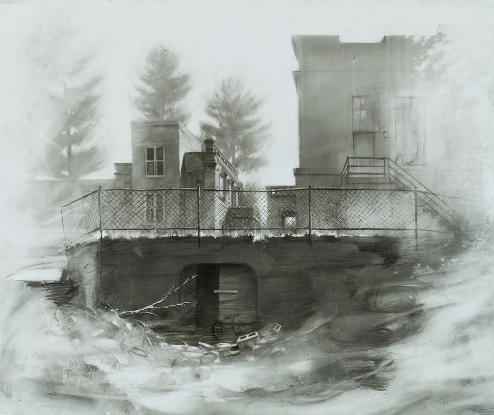 Blind Man's Well , 2018  graphite on Yupo  16 3/4 x 20 in.