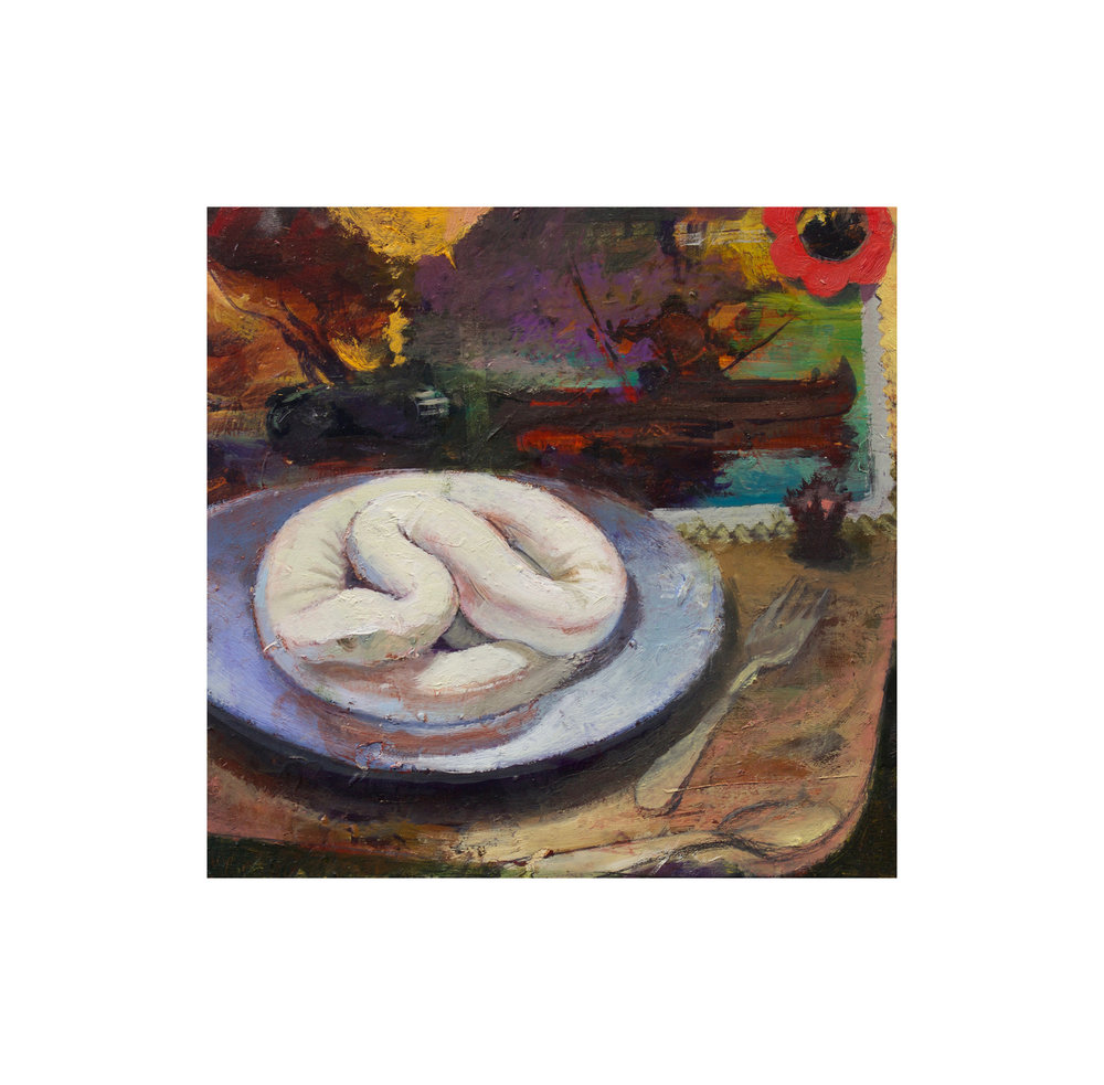 The White Snake , 2017  oil on panel  8 x 9 in.