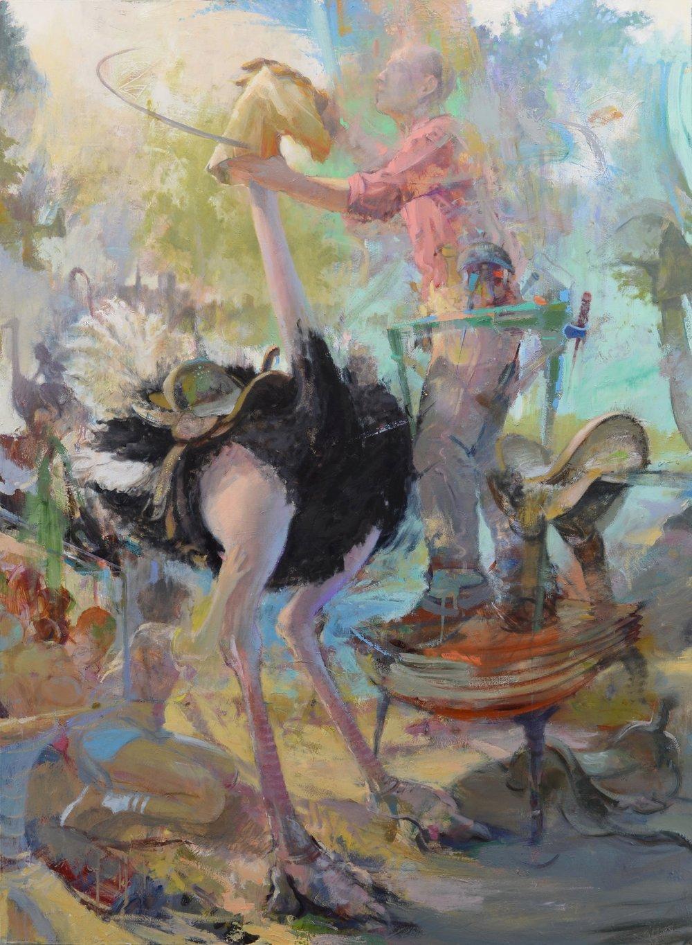 Saddler , 2018  oil on canvas  60 x 44 in.