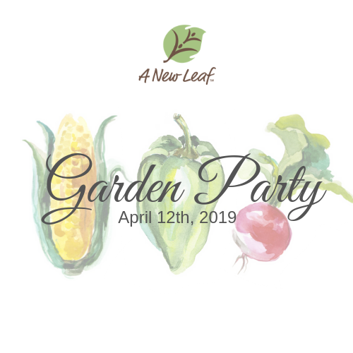Garden Party 2019 - Garden Party is A New Leaf's signature spring event on April 12th, 2019. It is a night recognizing excellence and achievements of our clients and supporters. The evening will feature dinner, drinks, live music, live and silent auctions, a short program and more all located at our Greenhouses at 2306 S. 1st Pl. Broken Arrow, OK 74012.