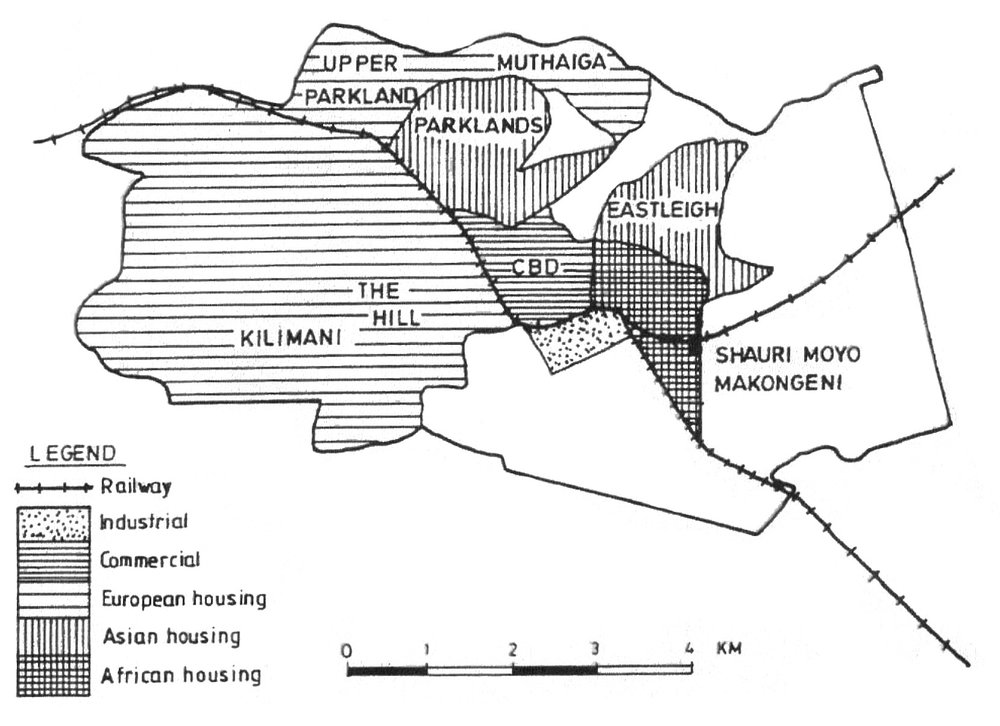 06  Colobial racial residential segregation in Nairobi in 1948 (source: Pajoma Trust 2009)