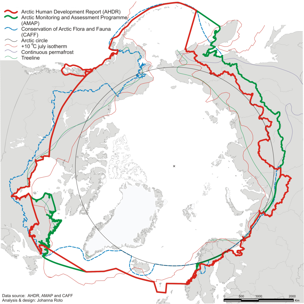 Arctic Border Definitions Source: NORDREGIO - Nordic Centre for Spatial Development