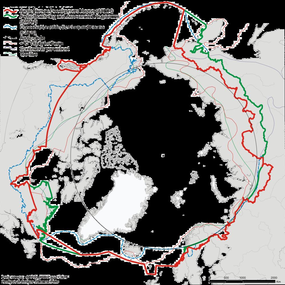 Arctic Border Definitions Source: NORDREGIO - Nordic Centre for Spatial Development