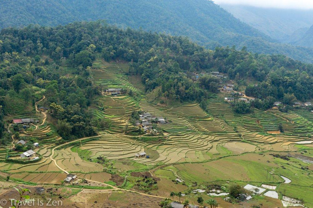 rice fields, Ha Giang Vietnam