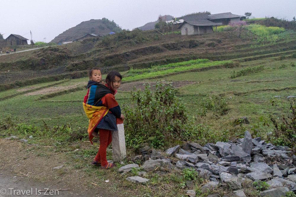 siblings, Ha Giang Vietnam