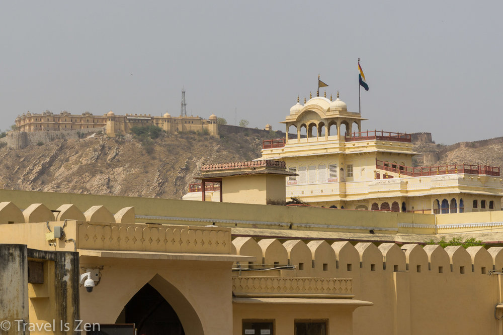 Janta Mantar with Amber Fort in background