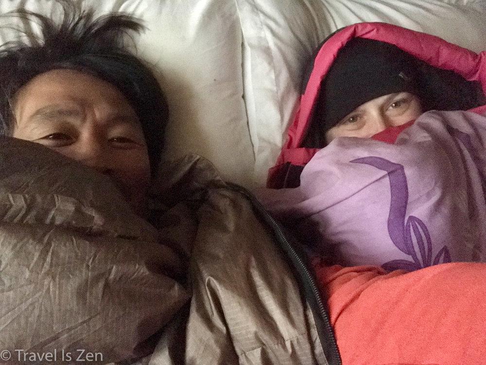 Rented sleeping bags were a lifesaver!!