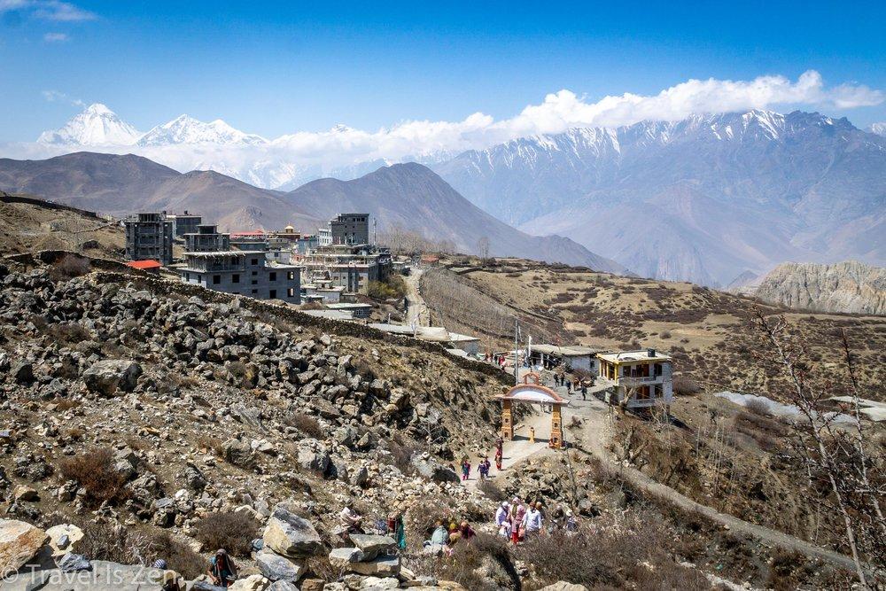 Mutinath, with Dhauligiri peak in upper left