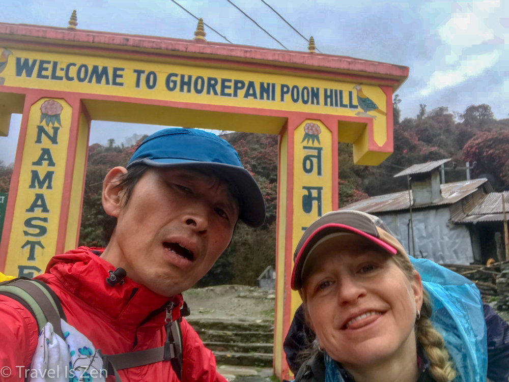 Exhausted. Hello Ghorepani!