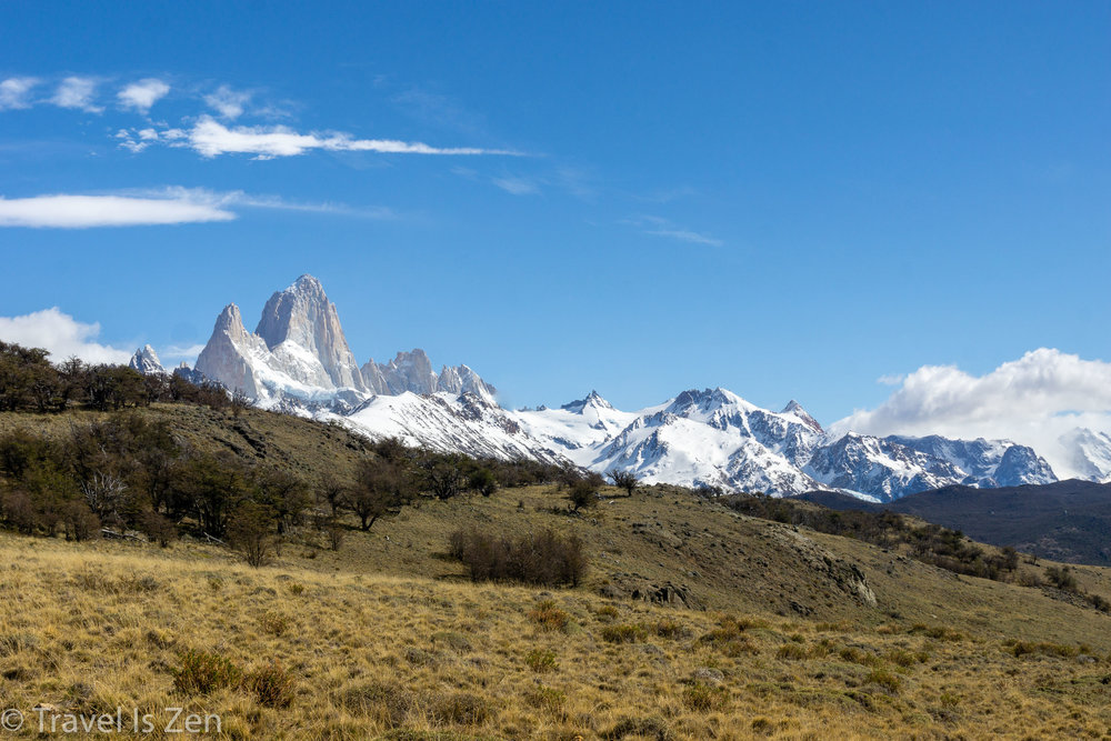 Views of Fitz Roy from Sendero Loma del Pliegue Tumbado, Patagonia, Argentina