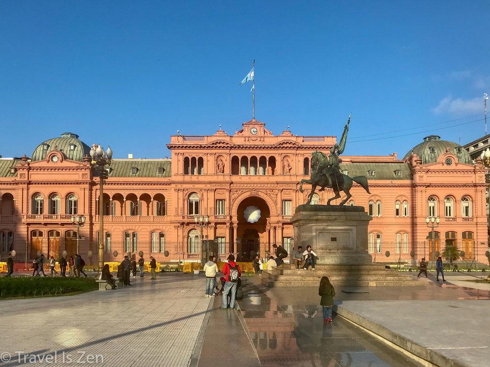 "Casada Rosada, or ""Pink House"". Presidential Executive Mansion and Governing House, Monserrat neighborhood, Buenos Aires"