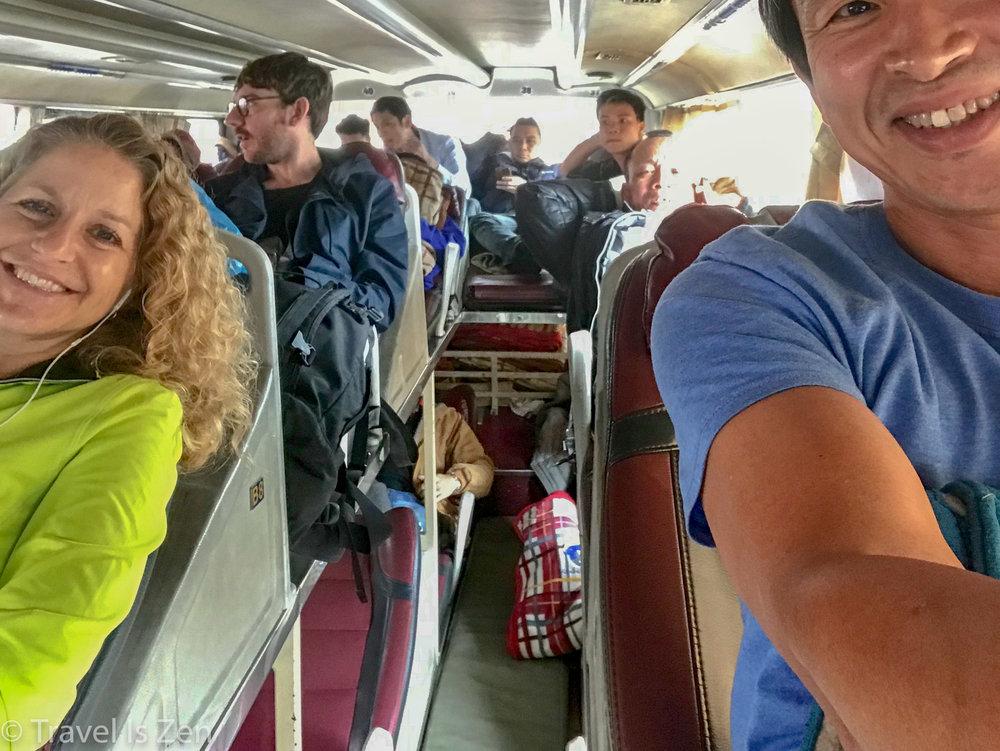 Overnight bus from Hanoi to Ha Giang, Vietnam
