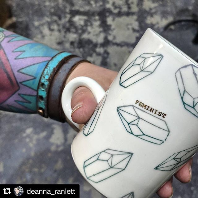 Happy #feministfriday ✨💎 ・・・ #Repost @deanna_ranlett ・・・ Feminist Friday! I mean every day is feminist but Feminist Friday does remind me to check the Spotify playlist, and share the work of my friends @city.sloth shattering the patriarchy. You can get this mug at my studio and gallery @mudfire.