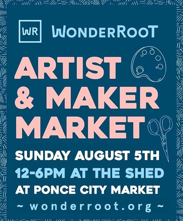T O M O R R O W ~ come see me at the @wonderroot Artist Market at @poncecitymarket ~ I'll be there 12-6 ✨🌿