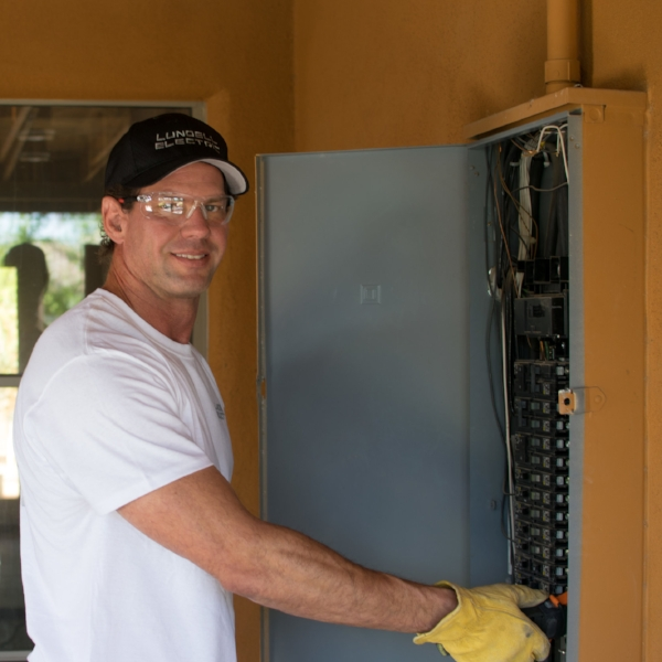 Safety--yours and ours--is a paramount consideration when we do electrical work for your home or business.