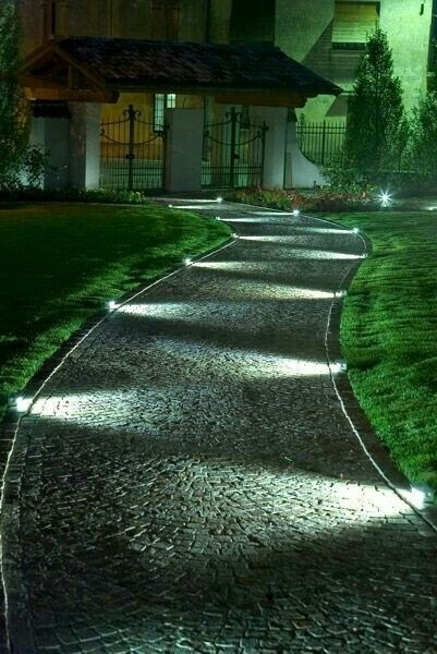 Notice how your eye follows the lights up this path?