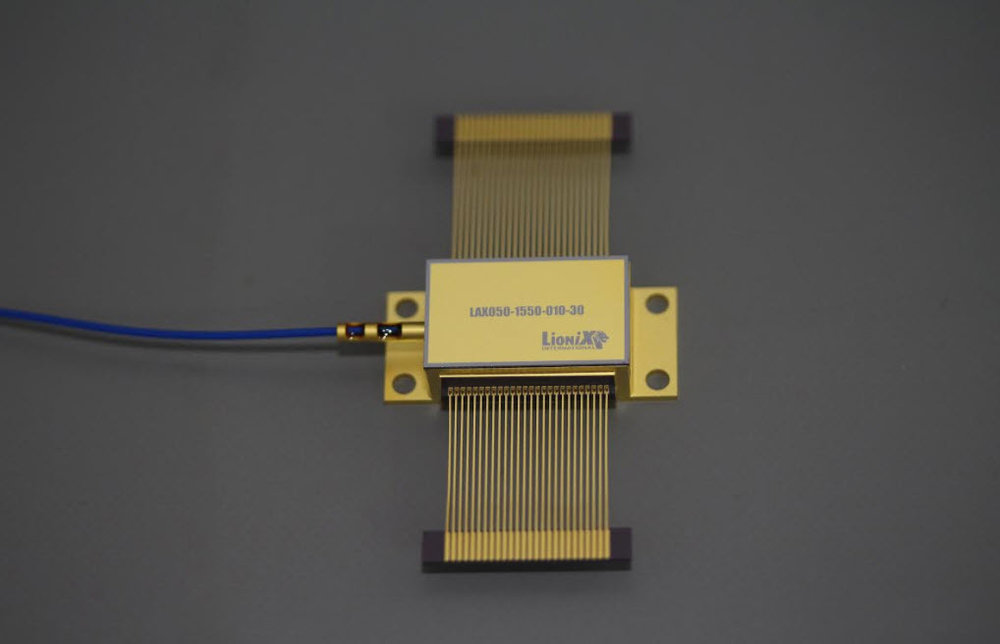 One of the next generation photonics chips being used in the 5G Bluespace architecture.
