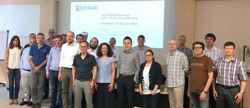 The blueSPACE team at launch time on the 19th of June 2017