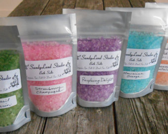 Bath salts/ Bubble bath: - Running a bath for someone is a thoughtful gesture, it's calming and will set the mood for the rest of the night especially if you have everything ready and set to go right after!